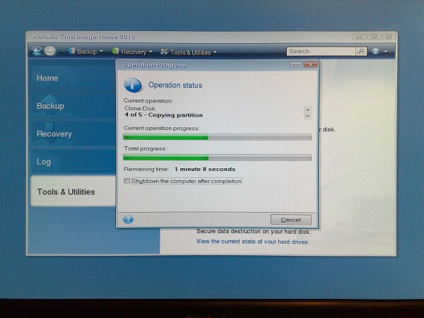 16. Acronis True Image Home 2010 while cloning partitions.jpg