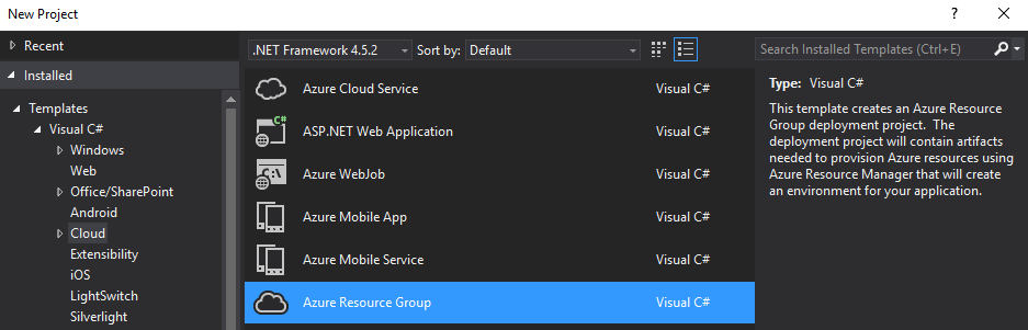 Azure Tools para Visual Studio