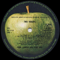 Two Virgins original UK Stereo label