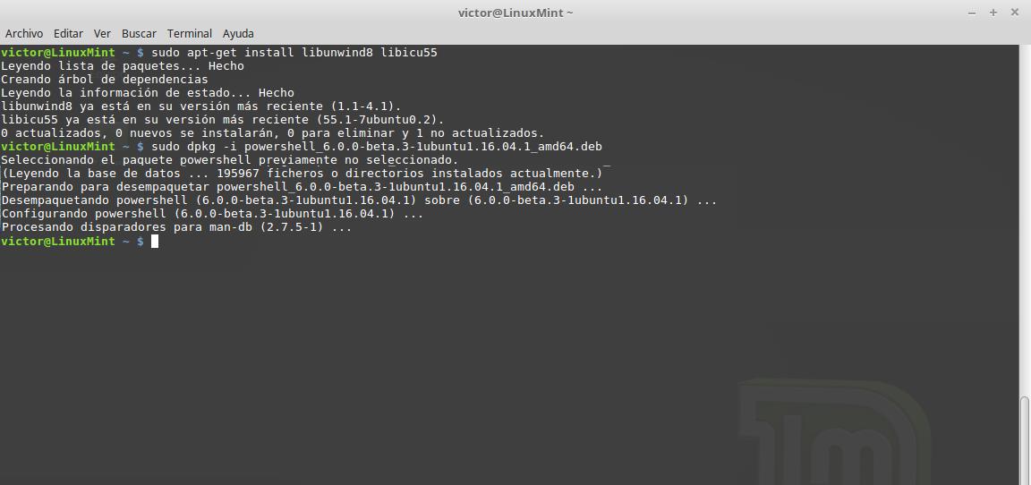 Instalación de PowerShell en Linux