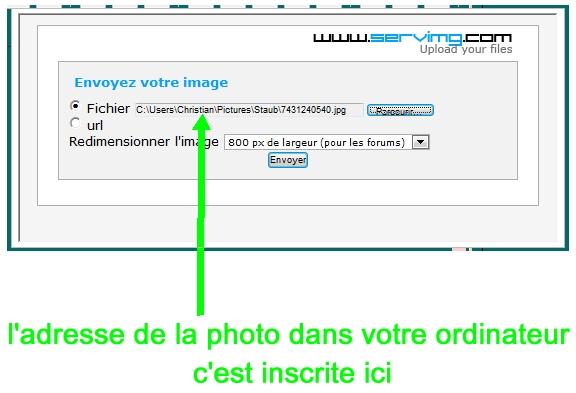 autre didacticiel pour poster des photos sur le forum P1P010