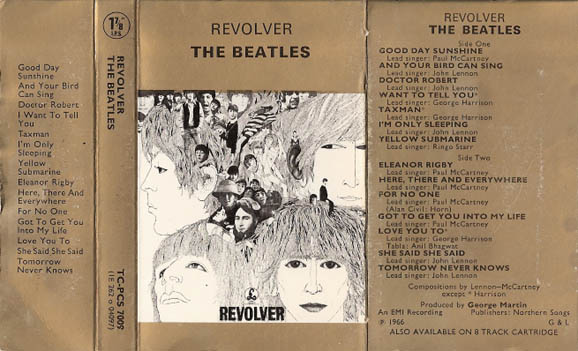 1972 Revolver UK Cassette Inlay