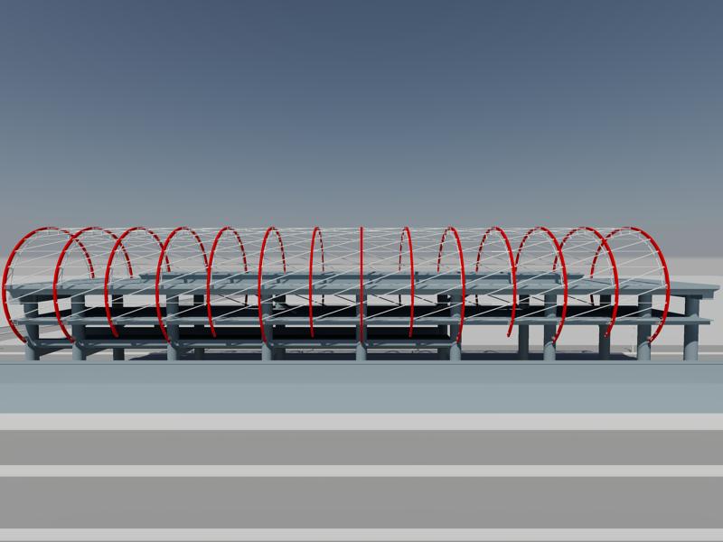 [作品]捷運站體實際案例-建模練習 010