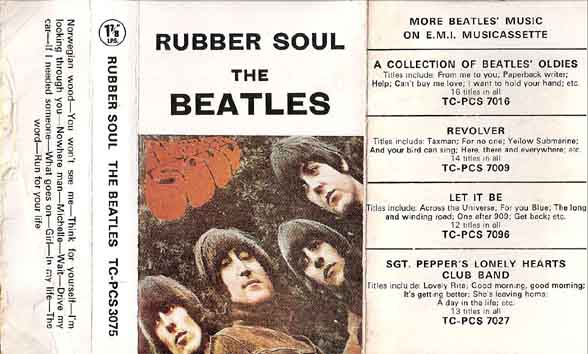1970 Rubber Soul UK Cassette Inlay