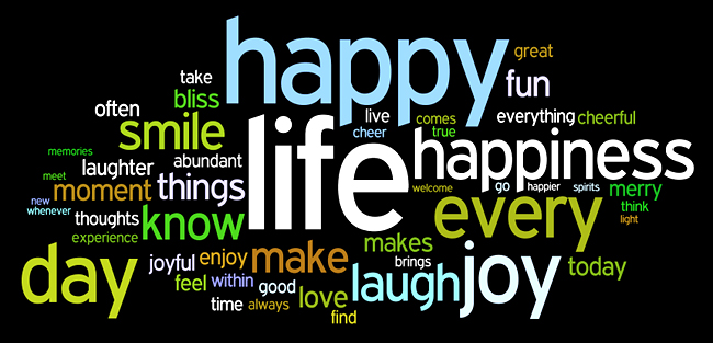 greater joy into my life. HAPPINESS Tag Cloud by http://www.wordle.net/