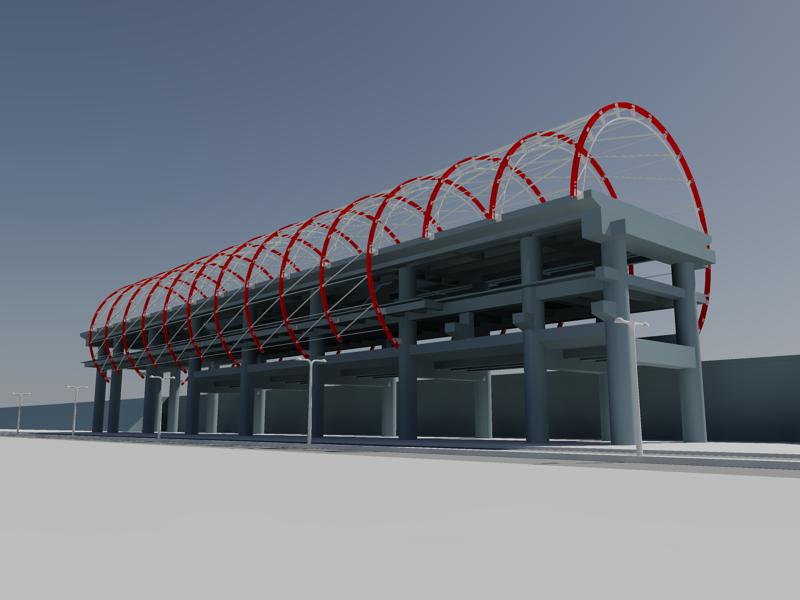 [作品]捷運站體實際案例-建模練習 002