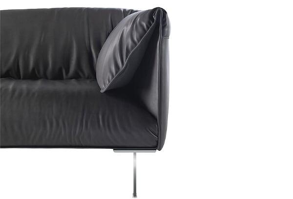 Sofá en piel de Jean-Marie Massaud