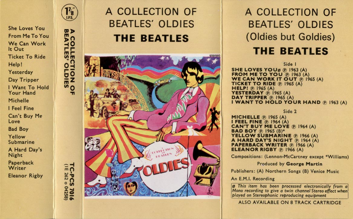 Gold inlay. The first Beatles UK compilation album (released for Christmas