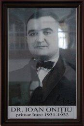 dr. Ioan Onitiu - 1931-1932