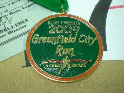 Greenfield City Run 21K Finisher's Medal