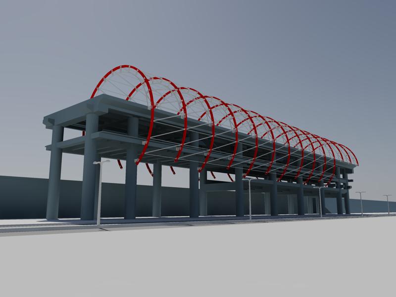 [作品]捷運站體實際案例-建模練習 004