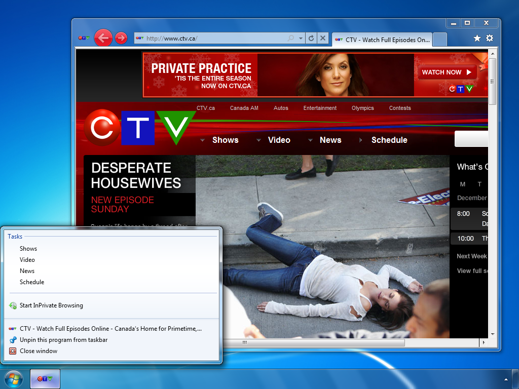 ctv.ca (Homepage for a television network in Canada)