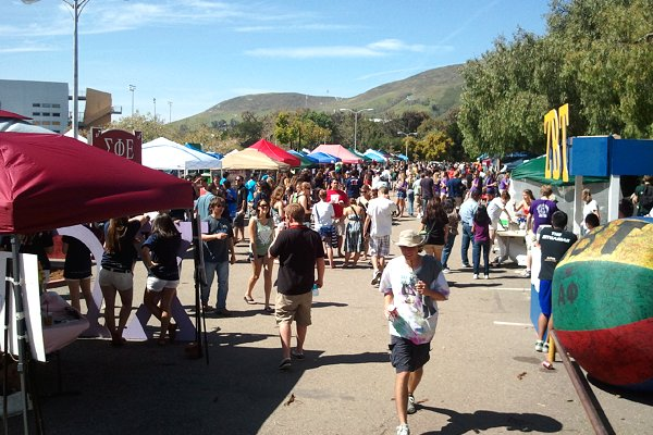 Clubs and Activities Booths at Cal Poly Open House