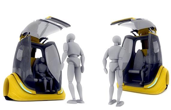 IMAGEM - Veículo do futuro - Robot Taxi