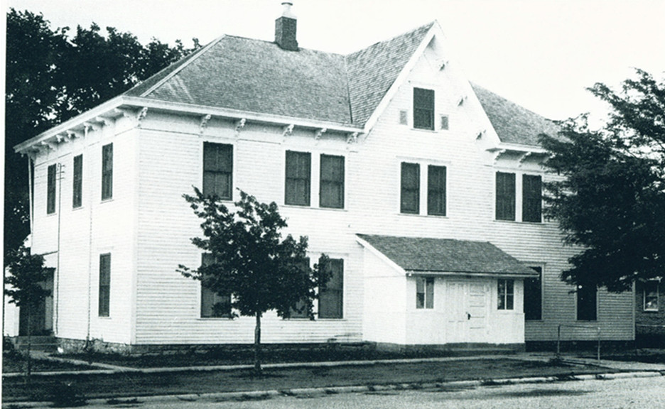Assumption School on a paved street
