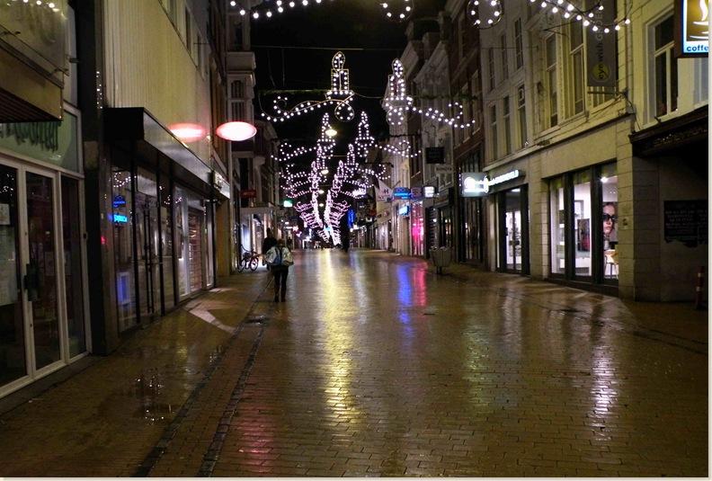 De Herenstraat in de avond, 25 nov. 2008