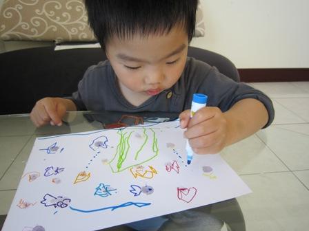 海底世界指印画图片
