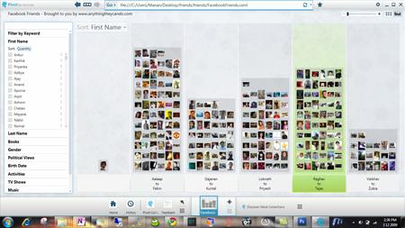 Microsoft Live Labs Pivot browser facebook friends pivot screen shot 01