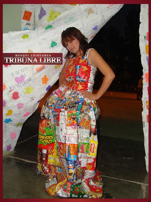 Trajes de material reciclable para ninas - Imagui
