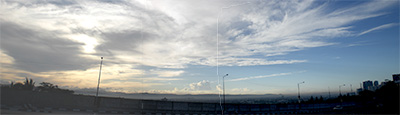 Panoramic view of Katipunan Ave.