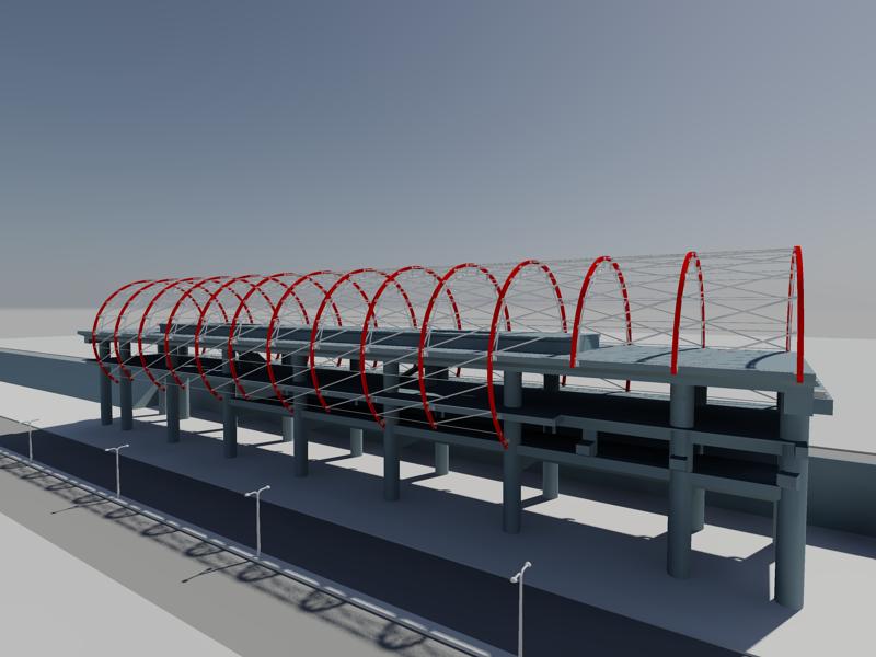 [作品]捷運站體實際案例-建模練習 008011