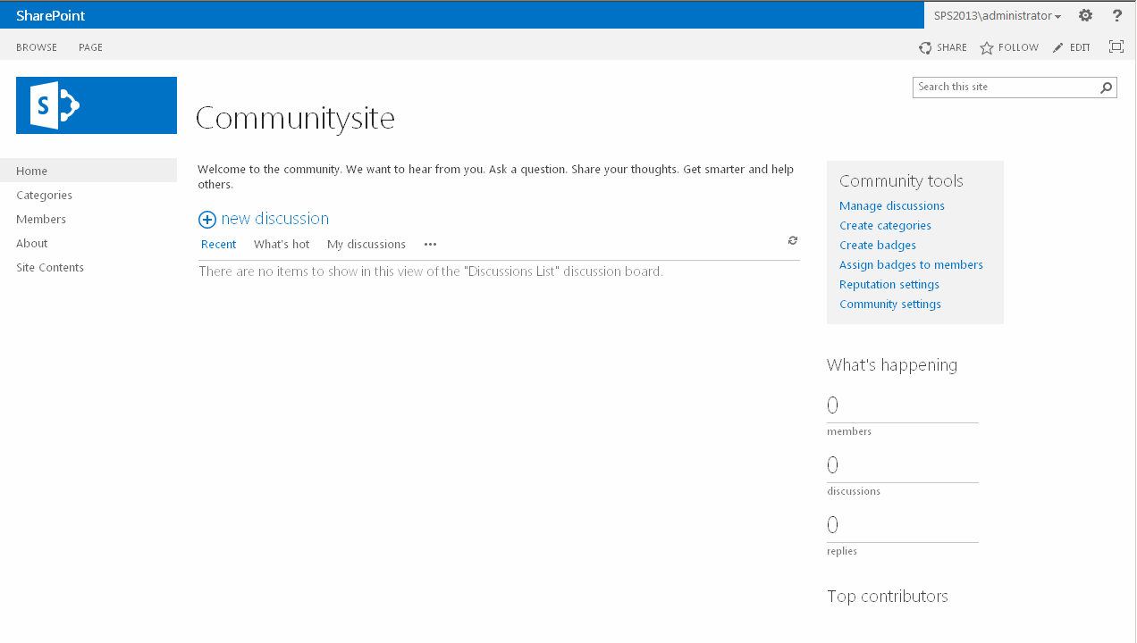 SharePoint 2013 Community Site