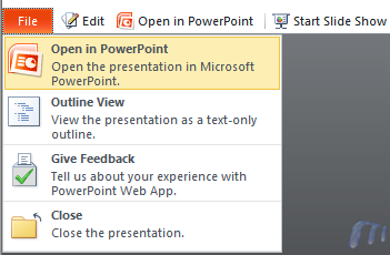 Microsoft Skydrive Office Web Apps Powerpoint