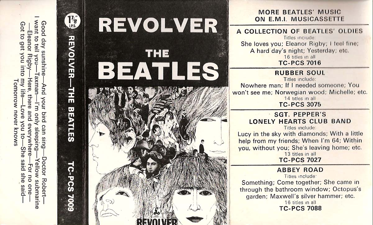 1970 Revolver UK Cassette Inlay