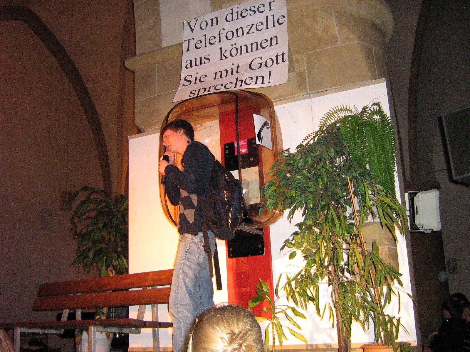 Theaterszene (hier eine Szene vom 13.01.08 mit Christoph Pahmeyer)