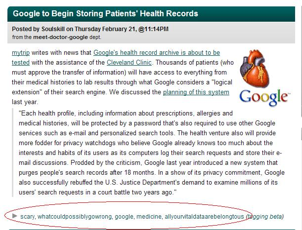 tags: scary, whatcouldpossiblygowrong, google, medicine, allyourvitaldataarebelongtous