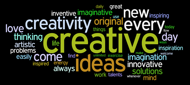 creativity affirmations wordle
