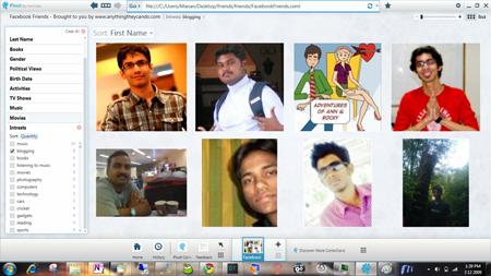 Microsoft Live Labs Pivot browser facebook friends pivot screen shot 03
