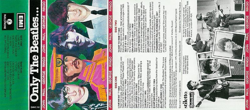1986 Only The Beatles Cassette Inlay