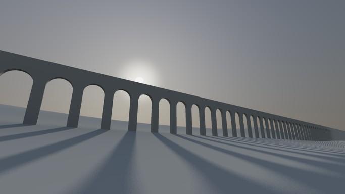 AutoCAD 西班牙水道橋日光光影模擬 048