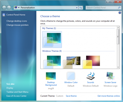 personalizzazione desktop