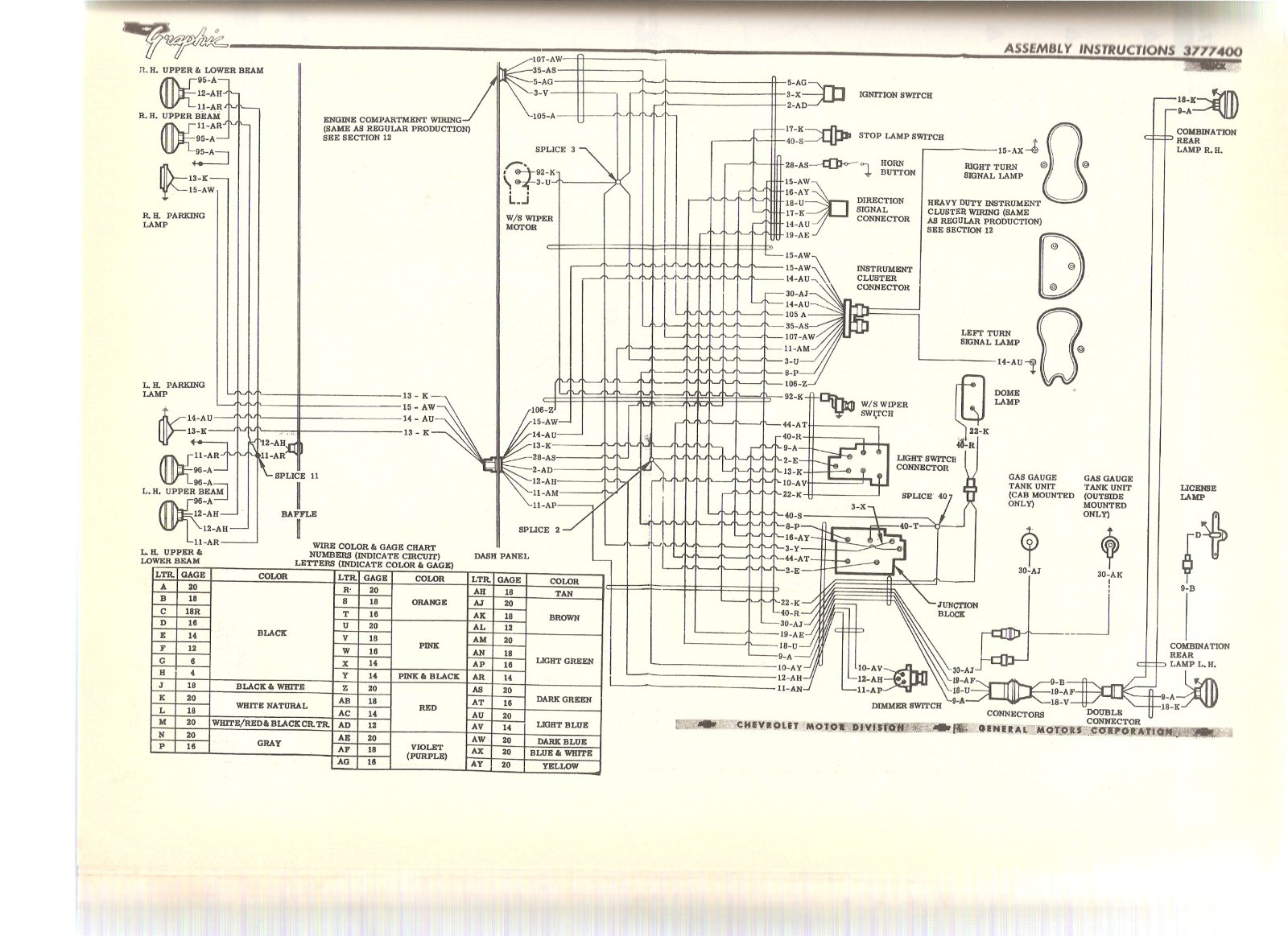 wiring diagram the 1947 present chevrolet gmc truck message here ya go