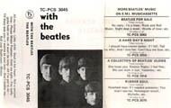 1970 With the Beatles UK Cassette Inlay