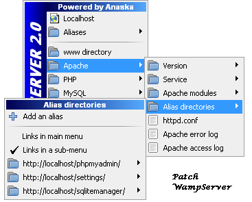 Creating an alias in WampServer