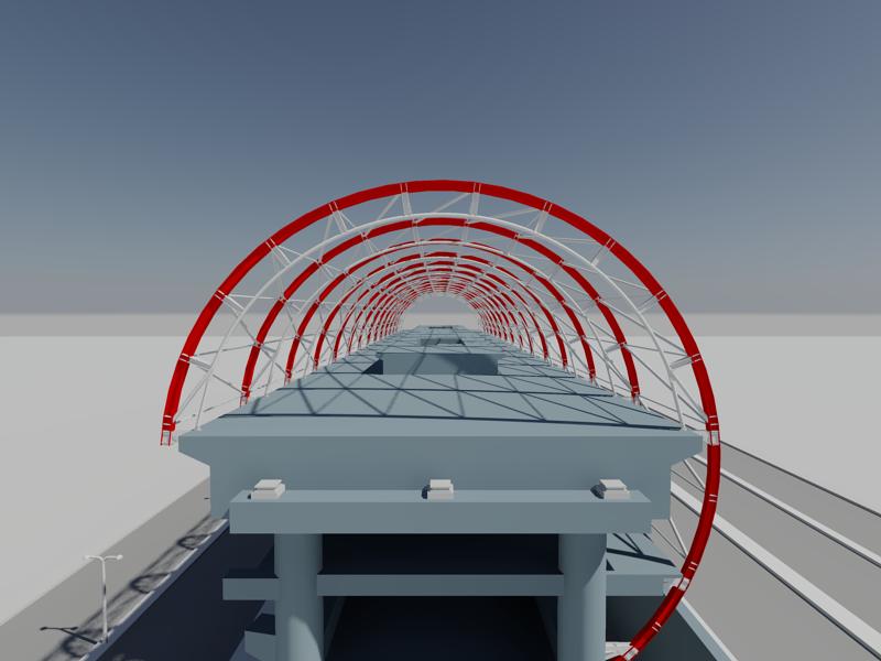 [作品]捷運站體實際案例-建模練習 009