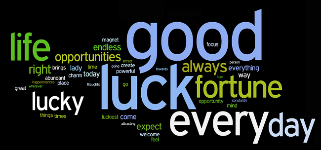 good fortune and luck affirmations wordle
