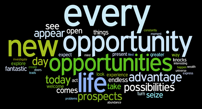 opportunity affirmations wordle