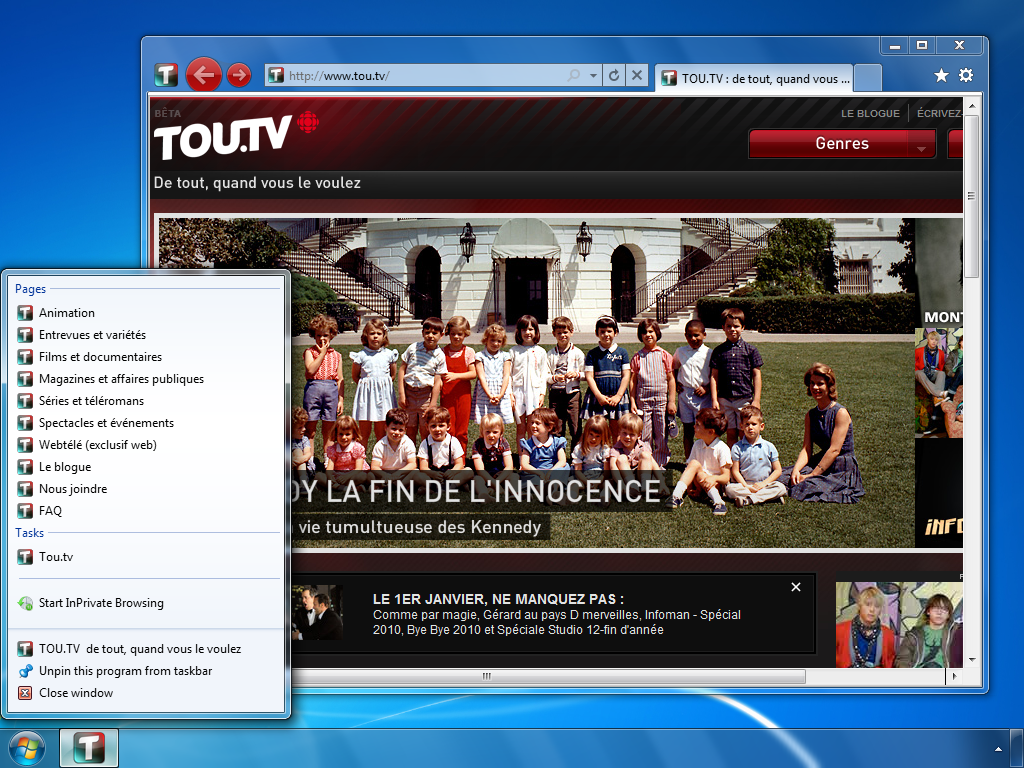 tou.tv (Quebecois video-on-demand website from the Société Radio-Canada)