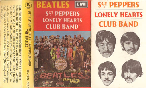 1968 Sgt Pepper UK Cassette Inlay