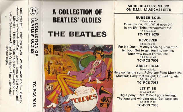 1970 Oldies But Goldies UK Cassette Inlay
