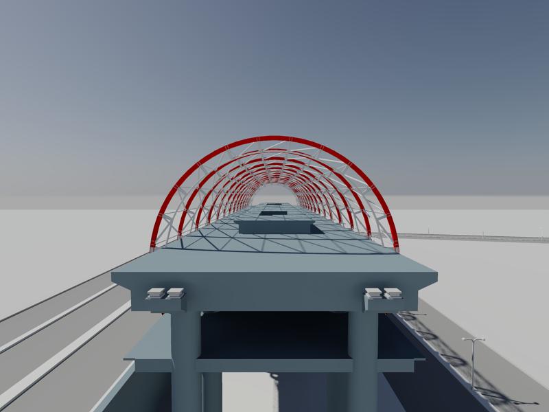 [作品]捷運站體實際案例-建模練習 007