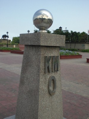 It is also the site of Kilometer Zero (Km 0)