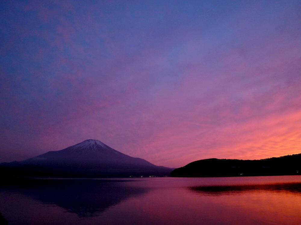 山中湖 富士の夕映え