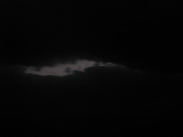 出現光亮的雲朵