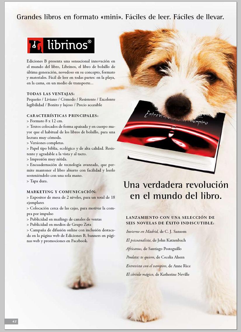 Ediciones B: nuevo formato LIBRINOS Librinos