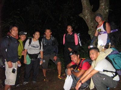 Pit stop along Grotto Trail, sans-Ross